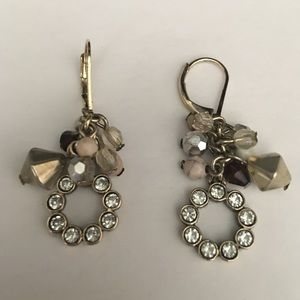 """Jewelry - Earrings circle drop w accent beads 1.5"""""""